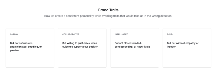 "Participate brand traits of ""caring, collaborative, intelligent and bold"""