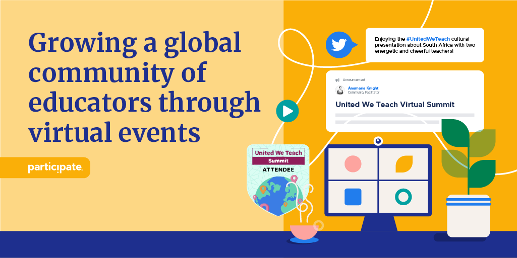 Growing a global community of educators through virtual events