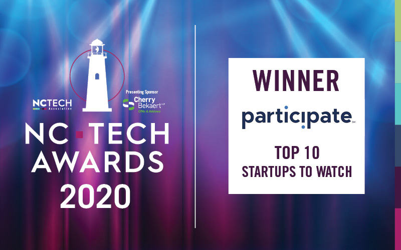 Participate recognized as a Top Ten Startup to Watch at 2020 NC Tech Awards